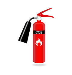 carbon dioxide fire extinguisher isolated on white vector image