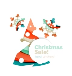 Christmas colorful geometric abstract background vector image