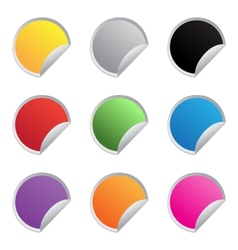 color glossy stickers vector image