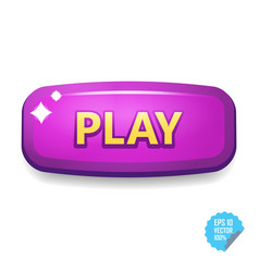 colorful button with play tittle bright vector image vector image