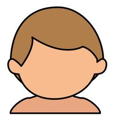 cute boy shirtless avatar character vector image