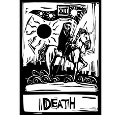 Death tarot vector