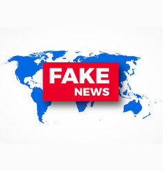 Fake news hoax concept vector