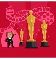 Film awards design flat banner concept vector