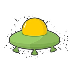 Flying saucer UFO on a white background vector image vector image