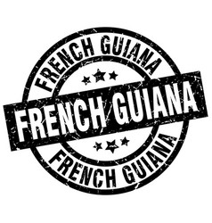 French guiana black round grunge stamp vector