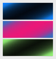 Halftone dot pattern banner background - from vector