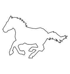 Horse outline icon vector