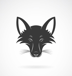 image of an fox face design vector image vector image