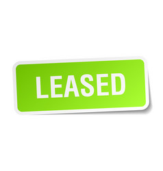 Leased square sticker on white vector