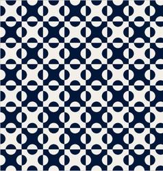 Navy blue dot seamless pattern vector