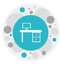 of office symbol on work table vector image vector image