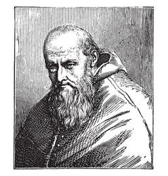 Pope paul iii vintage vector