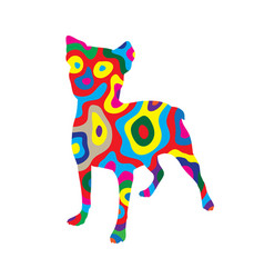 Rainbow dog 2 vector