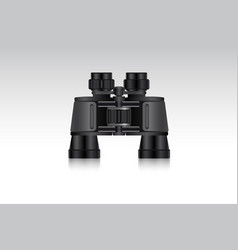 realistic binoculars for hunter and traveler vector image
