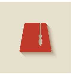 red fez design element vector image vector image
