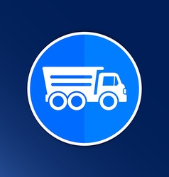 tipper truck building icon button logo symbol vector image