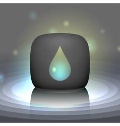 White shining drop icon vector