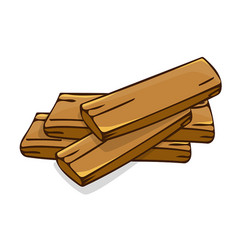 Wood planks isolated vector