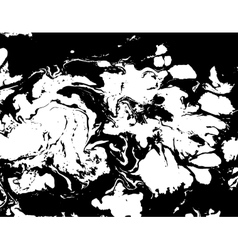 Black and white abstract background liquid marble vector