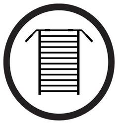 Sports stair icon black vector image