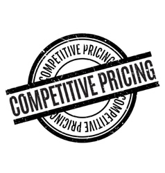 Competitive pricing rubber stamp vector