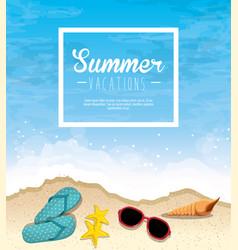 summer beach icon vector image