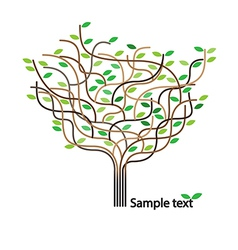 Stylized tree and icon vector