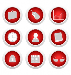 business button set vector image