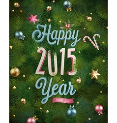 new year tree texture vector image