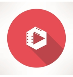 Film play icon vector