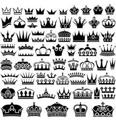 Crown design set vector