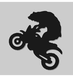 Symbol biker bear vector