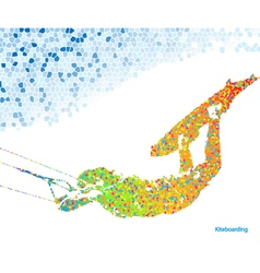 Kiteboarding mosaic vector image