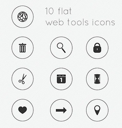 Modern flat icons collection of web tools theme vector