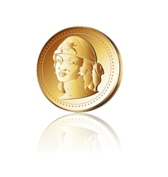 Pirate gold coin vector image