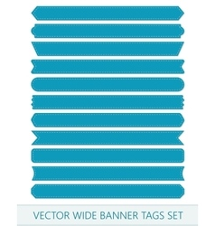 Blue price ribbons wide sale tags banners vector