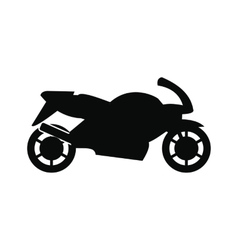 Motorcycle black simple icon vector