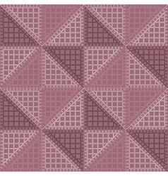 Seamless pattern with brown rhombus vector