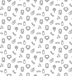 Electronics and mobile pattern seamless vector
