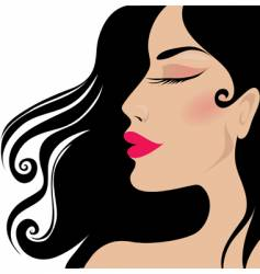 Closeup woman vector