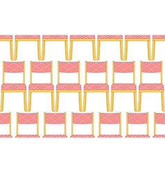 Chair pattern vector