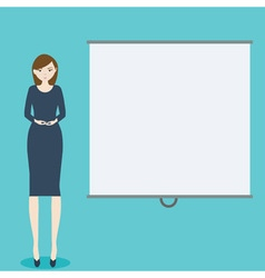 Business woman with demonstration board vector