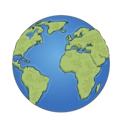 Hand drawn earth on white background vector