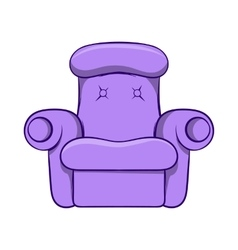Easy armchair icon cartoon style vector