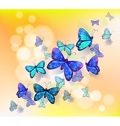 A wallpaper design with butterflies vector image