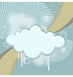Abstract retro background with clouds and rays vector image vector image