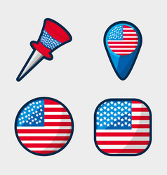 American buttons to encourage the spirit of vector