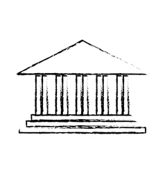 ancient greek building icon image vector image vector image