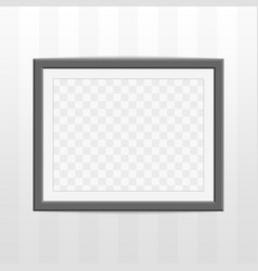 Black photo frame vector